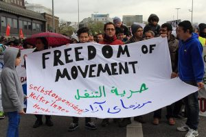 Freedom of movement banner