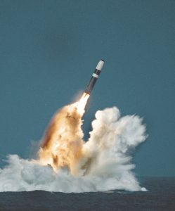 Trident missile launching