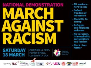 "Leaflet ""March against racism"""